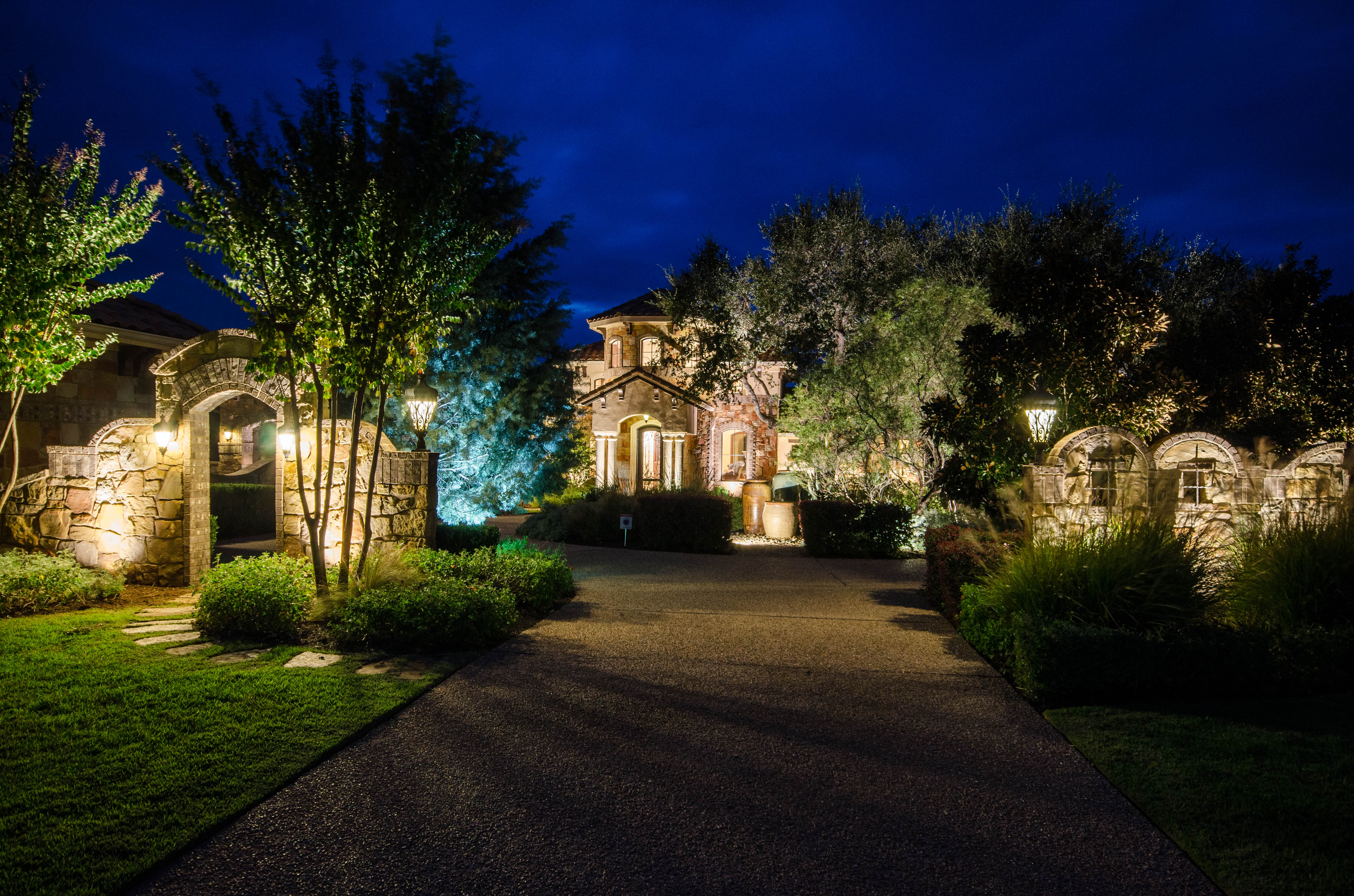 Hill country landscape lighting outdoor lighting hill country area at texas outdoor lighting aloadofball Gallery