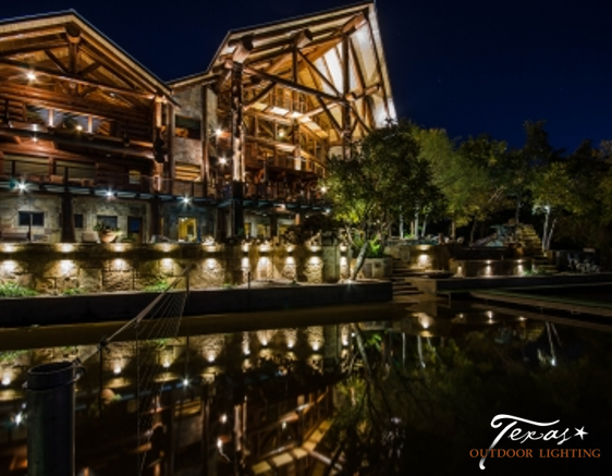Lake home outdoor lighting texas outdoor lighting texas outdoor lighting went all out on this lake cabin off of lake lbj the lighting showcases the unique architecture while adding safety for guests aloadofball Gallery